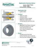 st seal adaptor with packing in the pulp & paper industry cover